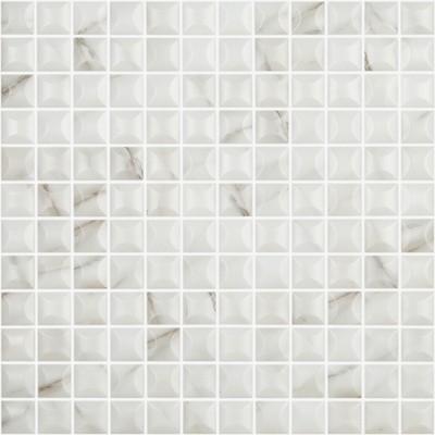 Skleněná mozaika imitace mramoru MARBLES Edna Calacata 3D