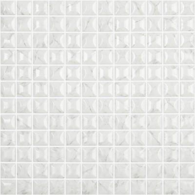 Skleněná mozaika imitace mramoru MARBLES Edna Carrara Grey 3D