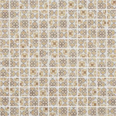 Skleněná retro mozaika HYDRAULIC Medina Brown