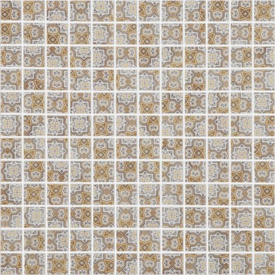 Skleněná retro mozaika HYDRAULIC Tanger Brown