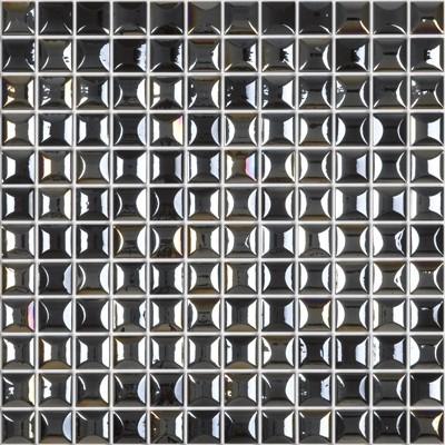 Skleněná 3D mozaika EDNA Black