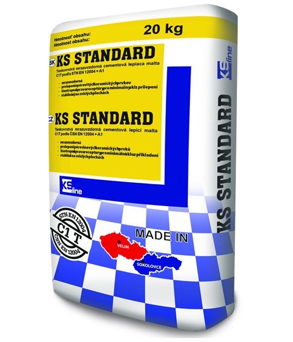Tenkovrstvé cementové lepidlo na obklady a dlažbu KS STANDARD C1T