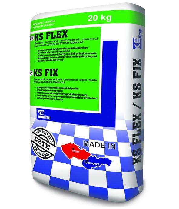 Tenkovrstvé cementové lepidlo na keramické obklady a dlažbu KS FIX C2TE