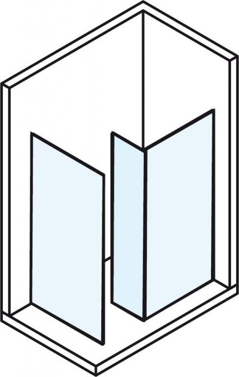 Bezdveřová sprchová zástěna MODULAR SHOWER MS80