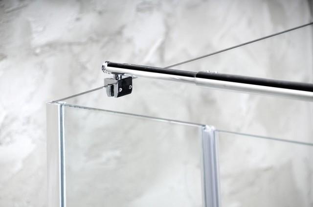 Výsuvná teleskopická tyč pro sprchovou zástěnu sklo/stěna, 850-1050 mm
