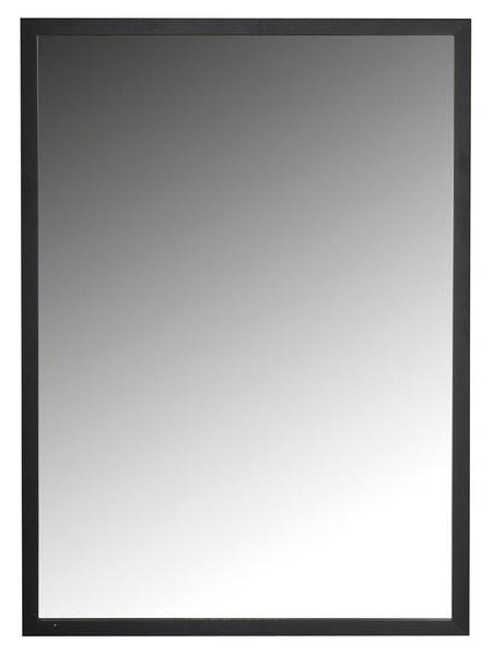 Zrcadlo v černém dřevěném rámu NORTE