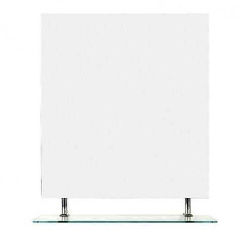Čtvercové zrcadlo WEGA s policí 80 x 80 cm