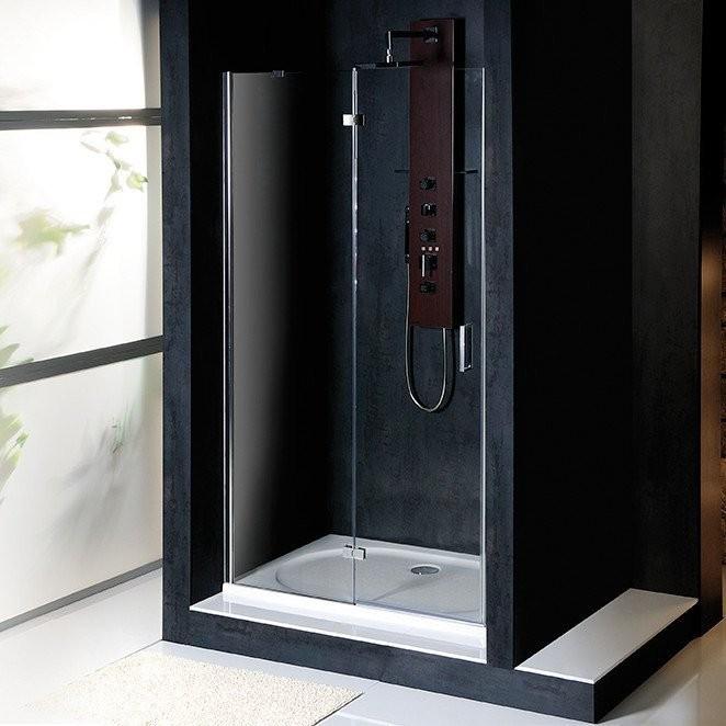 Bezrámové sprchové dveře s pevnou stěnou VITRA LINE