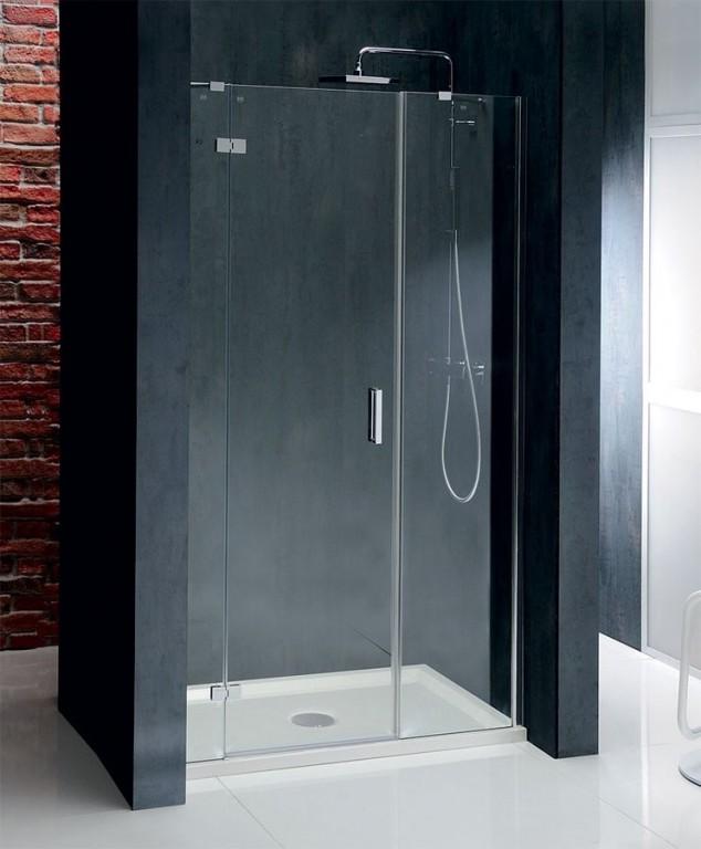 Bezrámové sprchové dveře s 2 pevnými stěnami VITRA LINE